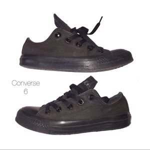 Converse Black Faded Low Top Tennis Shoes 6